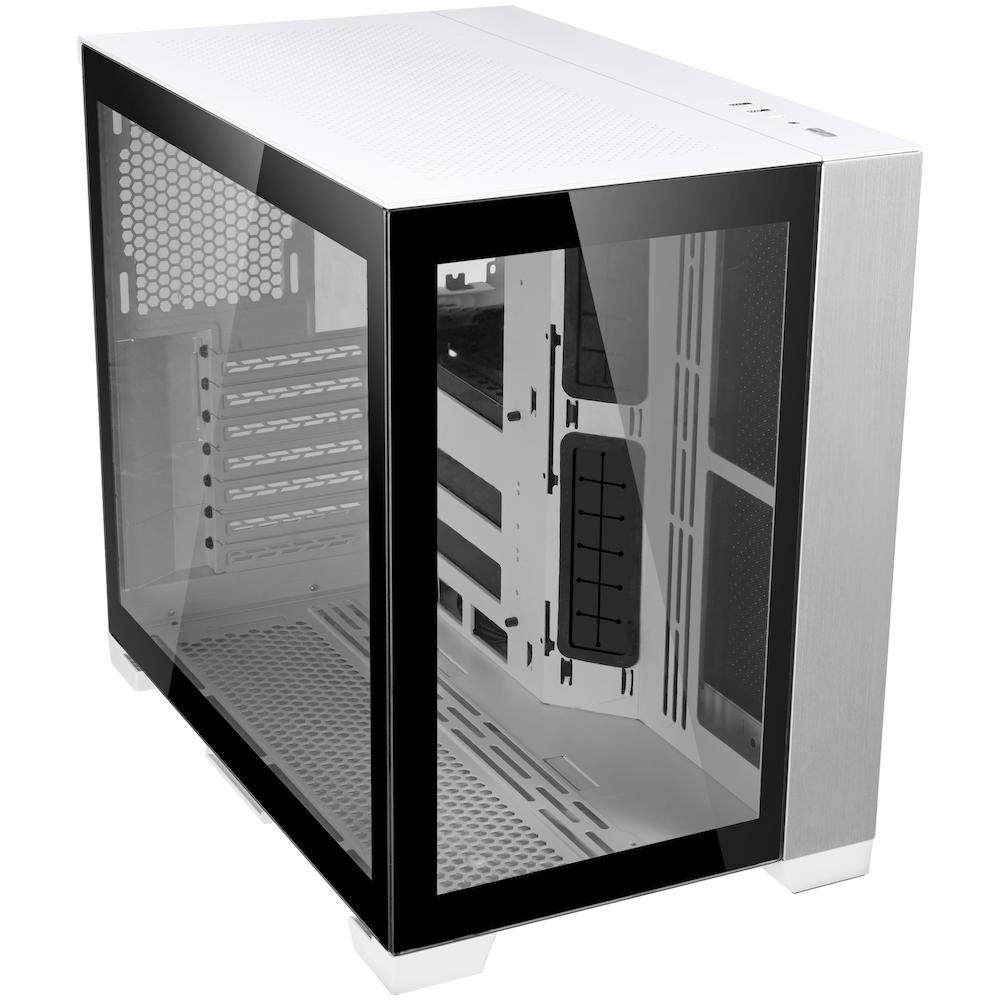 A large main feature product image of Lian-Li PC-O11D Mini Mid Tower Case - White