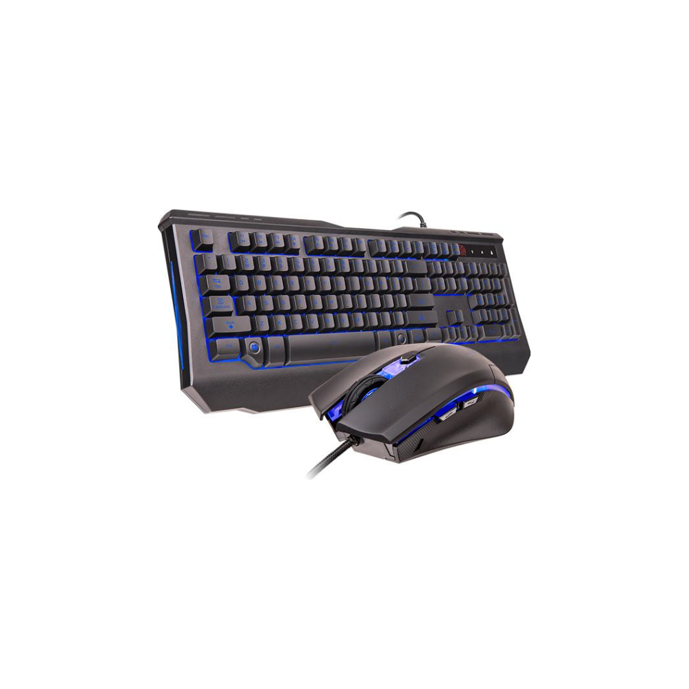 A large main feature product image of Thermaltake Knucker Elite Gaming Keyboard & Mouse