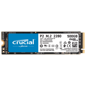 Product image of Crucial P2 500GB NVMe M.2 SSD - Click for product page of Crucial P2 500GB NVMe M.2 SSD