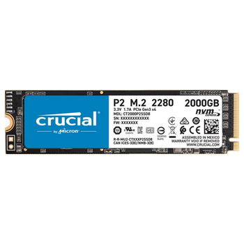 Product image of Crucial P2 2TB NVMe M.2 SSD - Click for product page of Crucial P2 2TB NVMe M.2 SSD