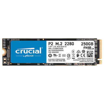 Product image of Crucial P2 250GB NVMe M.2 SSD - Click for product page of Crucial P2 250GB NVMe M.2 SSD