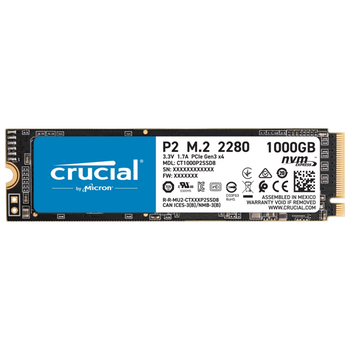 Product image of Crucial P2 1TB NVMe M.2 SSD - Click for product page of Crucial P2 1TB NVMe M.2 SSD