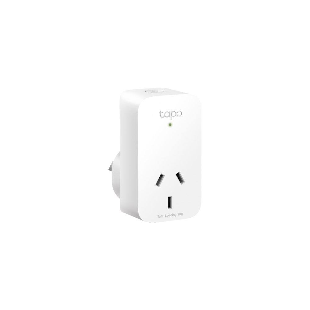 A large main feature product image of TP-LINK Tapo P100 Mini Smart WiFi Socket