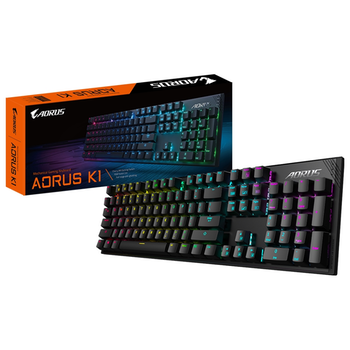 Product image of EX-DEMO Gigabyte Aorus K1 RGB Mechanical Keyboard (MX Red) - Click for product page of EX-DEMO Gigabyte Aorus K1 RGB Mechanical Keyboard (MX Red)