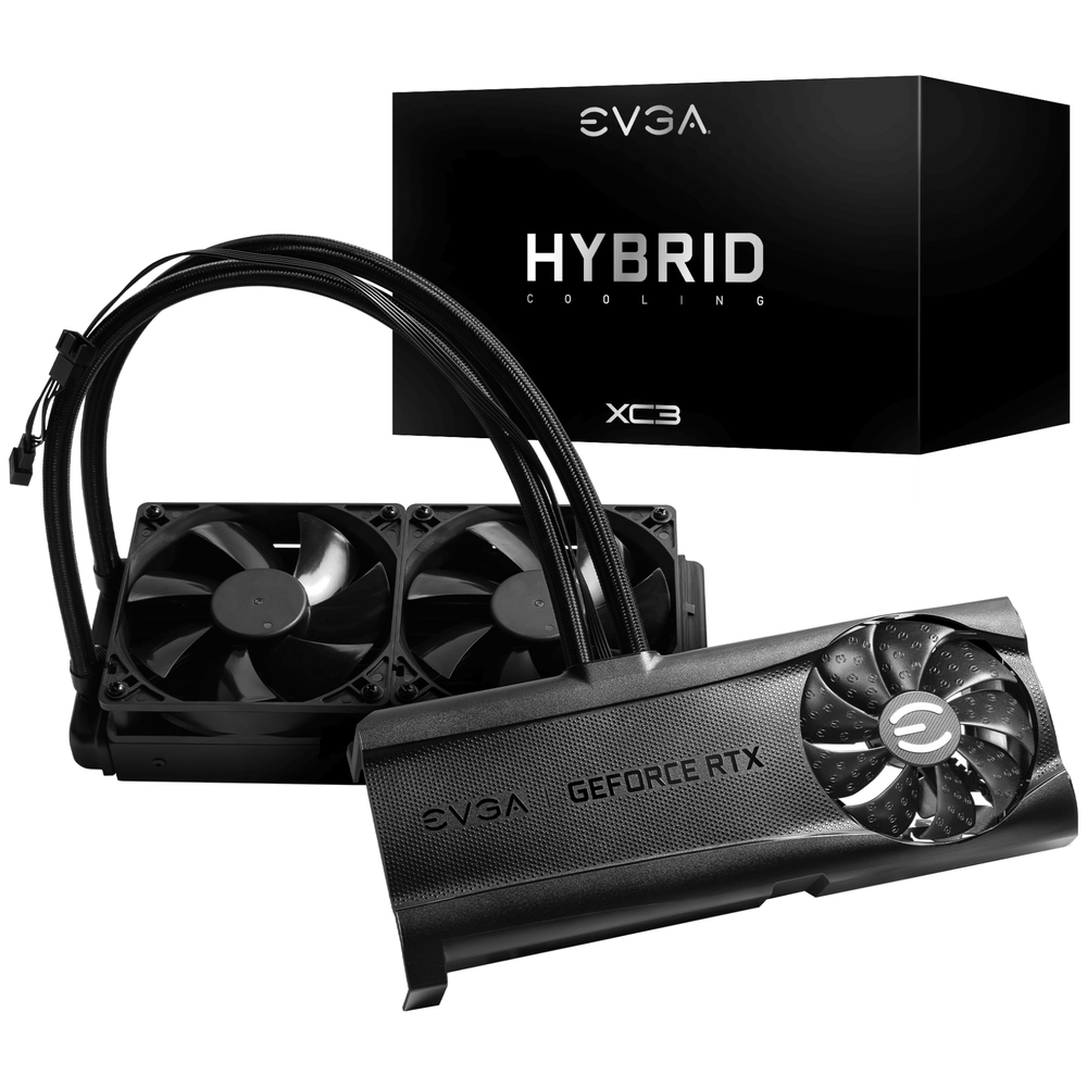A large main feature product image of eVGA XC3 Hybrid Cooling Upgrade Kit