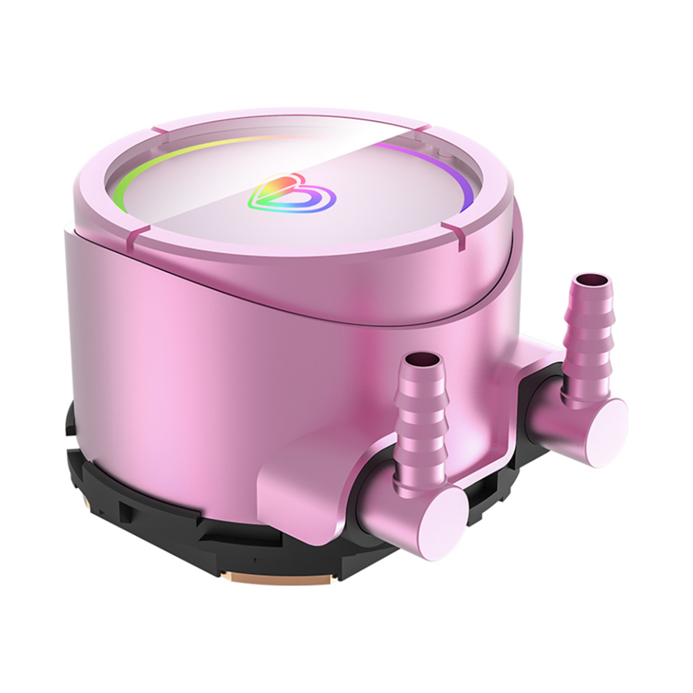 A large main feature product image of ID-COOLING PinkFlow 360 Addressable RGB AIO CPU Liquid Cooler
