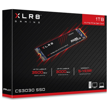 Product image of PNY XLR8 1TB NVMe PCIe Gen 3 M.2 SSD - Click for product page of PNY XLR8 1TB NVMe PCIe Gen 3 M.2 SSD
