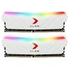 A product image of PNY XLR8 32GB (2x16GB) EPIC-X RGB Gaming DDR4 C16 3200Mhz - White Edition