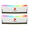 A product image of PNY XLR8 16GB (2x8GB) EPIC-X RGB Gaming DDR4 C16 3200Mhz - White Edition