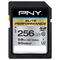 A small tile product image of PNY 256GB Elite-X Class 10 U3 SD Flash Card