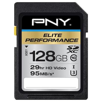 Product image of PNY 128GB Elite-X Class 10 U3 SD Flash Card - Click for product page of PNY 128GB Elite-X Class 10 U3 SD Flash Card