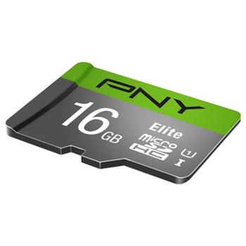 Product image of PNY 16GB Elite Class 10 U1 MicroSD Card - Click for product page of PNY 16GB Elite Class 10 U1 MicroSD Card