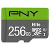 A product image of PNY 256GB Elite Class 10 U1 MicroSD Card