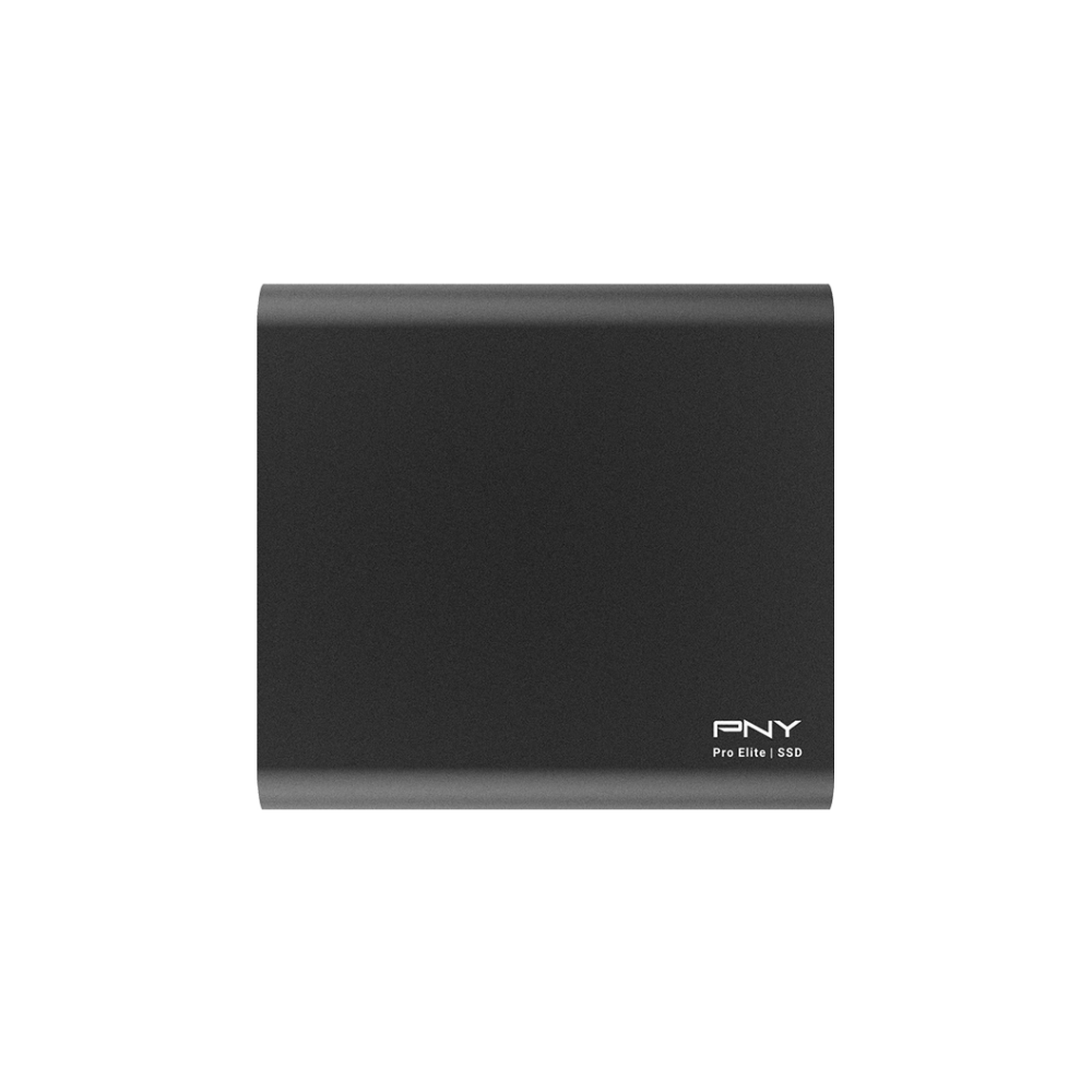 A large main feature product image of PNY 500GB Pro Elite USB 3.1 Gen 2 USB-C Portable SSD