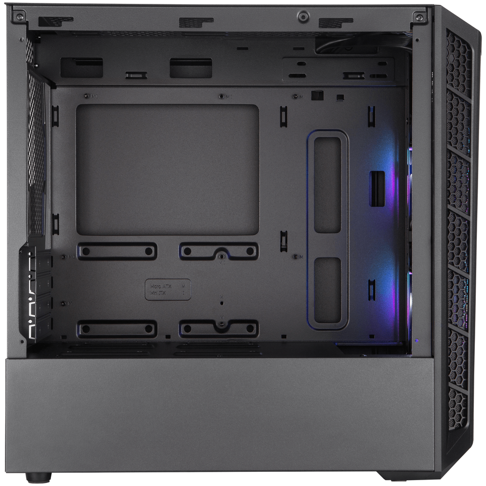 A large main feature product image of Cooler Master MasterBox MB311L ARGB mATX Mini Tower Case