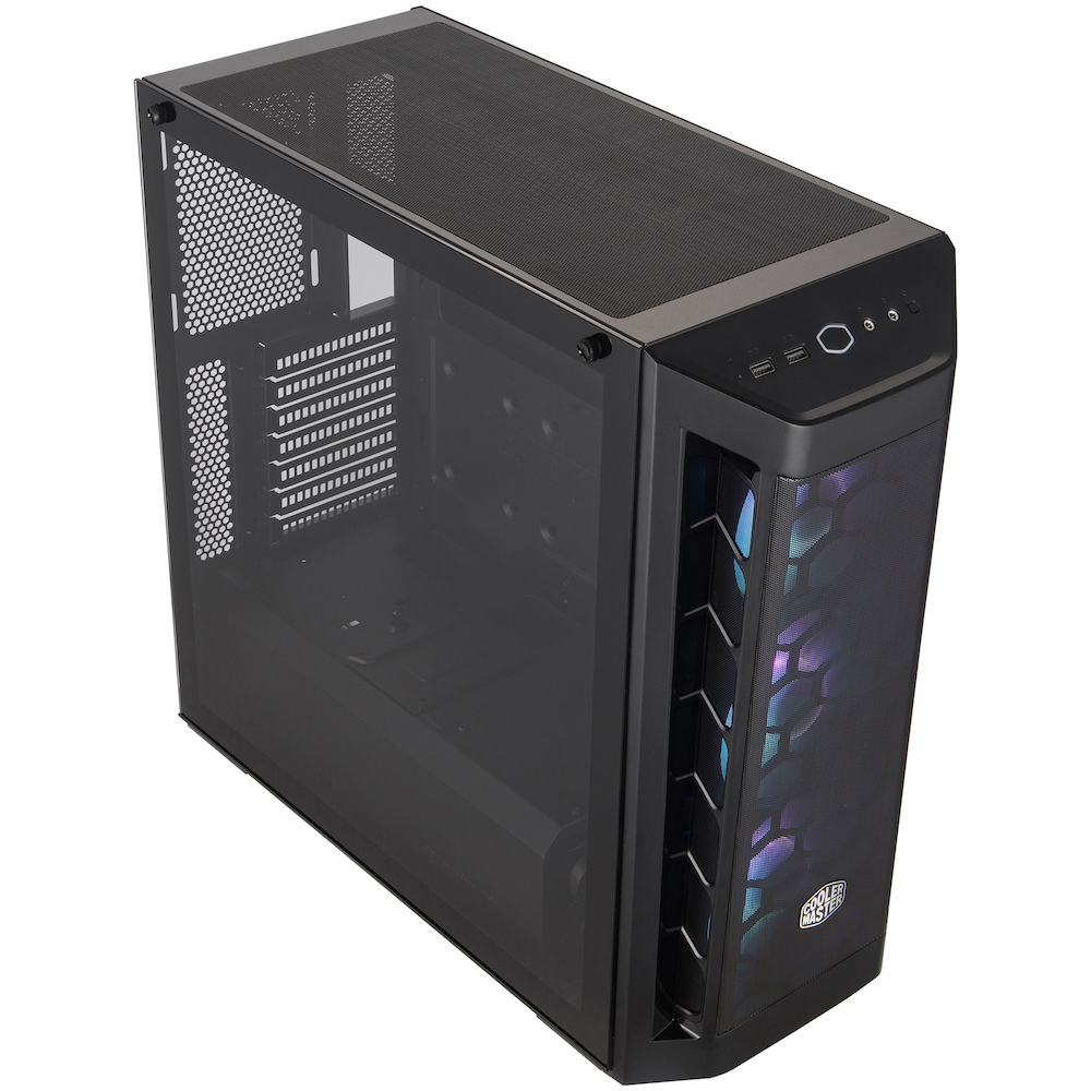 A large main feature product image of Cooler Master MasterBox MB511 ARGB ATX Mid Tower Case
