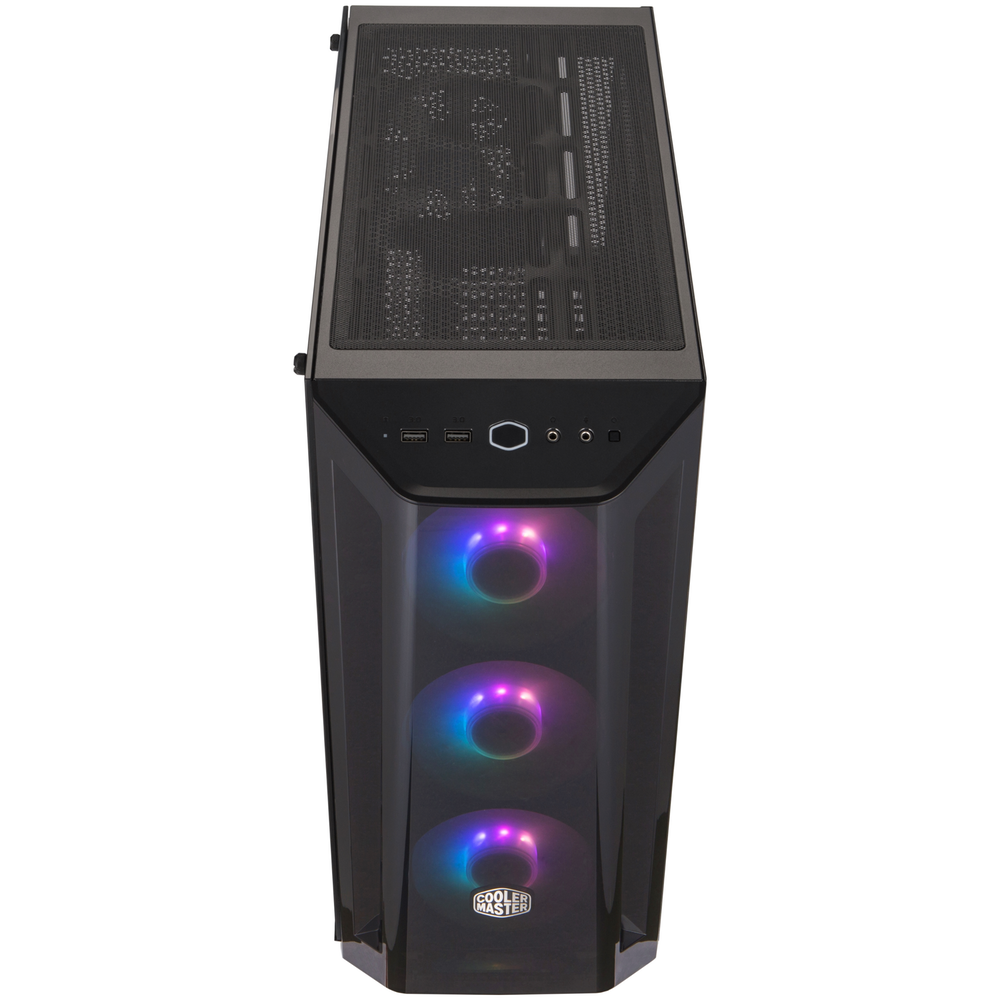 A large main feature product image of Cooler Master MasterBox MB520 ARGB ATX Mid Tower