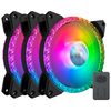 A product image of Cooler Master MasterFan MF120 Prismatic ARGB Triple Loop 120mm Cooling Fan - 3 Pack