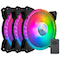 A small tile product image of Cooler Master MasterFan MF120 Prismatic ARGB Triple Loop 120mm Cooling Fan - 3 Pack