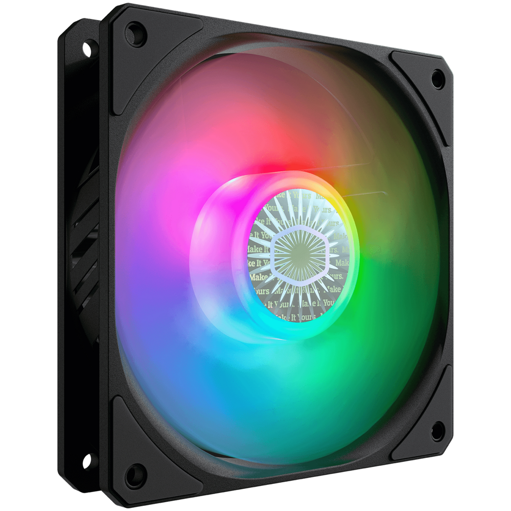 A large main feature product image of Cooler Master SickleFlow 120 ARGB 120mm Cooling Fan