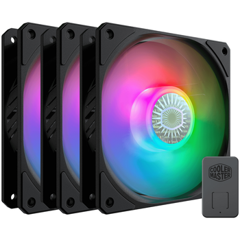 Product image of Cooler Master SickleFlow 120 ARGB 120mm Cooling Fan - 3 Pack - Click for product page of Cooler Master SickleFlow 120 ARGB 120mm Cooling Fan - 3 Pack