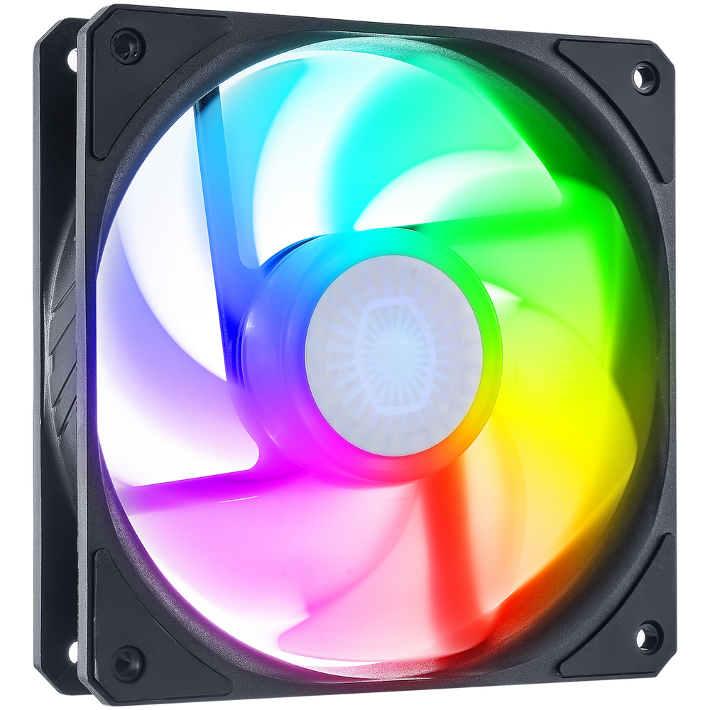 A large main feature product image of Cooler Master SickleFlow 120 ARGB Reverse Edition 120mm Cooling Fan