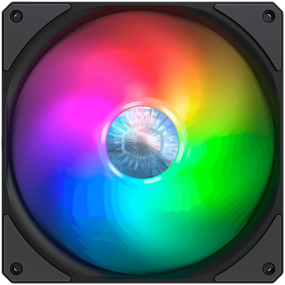 A large main feature product image of Cooler Master SickleFlow 140 ARGB 140mm Cooling Fan