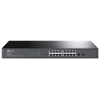 Product image of TP-LINK TL-SG2218 JetStream 16-Port Gigabit Smart Switch with 2 SFP Slots - Click for product page of TP-LINK TL-SG2218 JetStream 16-Port Gigabit Smart Switch with 2 SFP Slots