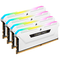 A small tile product image of Corsair 32GB (4x8GB) DDR4 Vengeance RGB Pro SL C16 3200Mhz - White