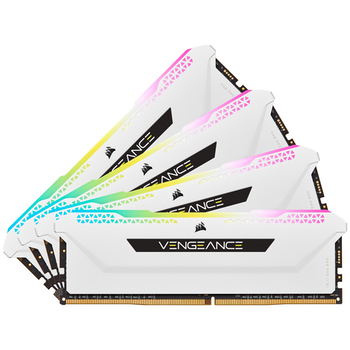 Product image of Corsair 32GB (4x8GB) DDR4 Vengeance RGB Pro SL C16 3200Mhz - White  - Click for product page of Corsair 32GB (4x8GB) DDR4 Vengeance RGB Pro SL C16 3200Mhz - White