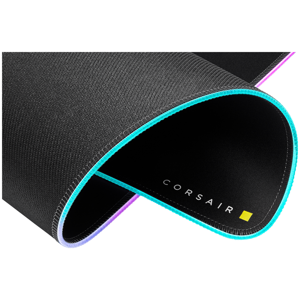 A large main feature product image of Corsair MM700 RGB Extended Cloth Gaming Mouse Pad