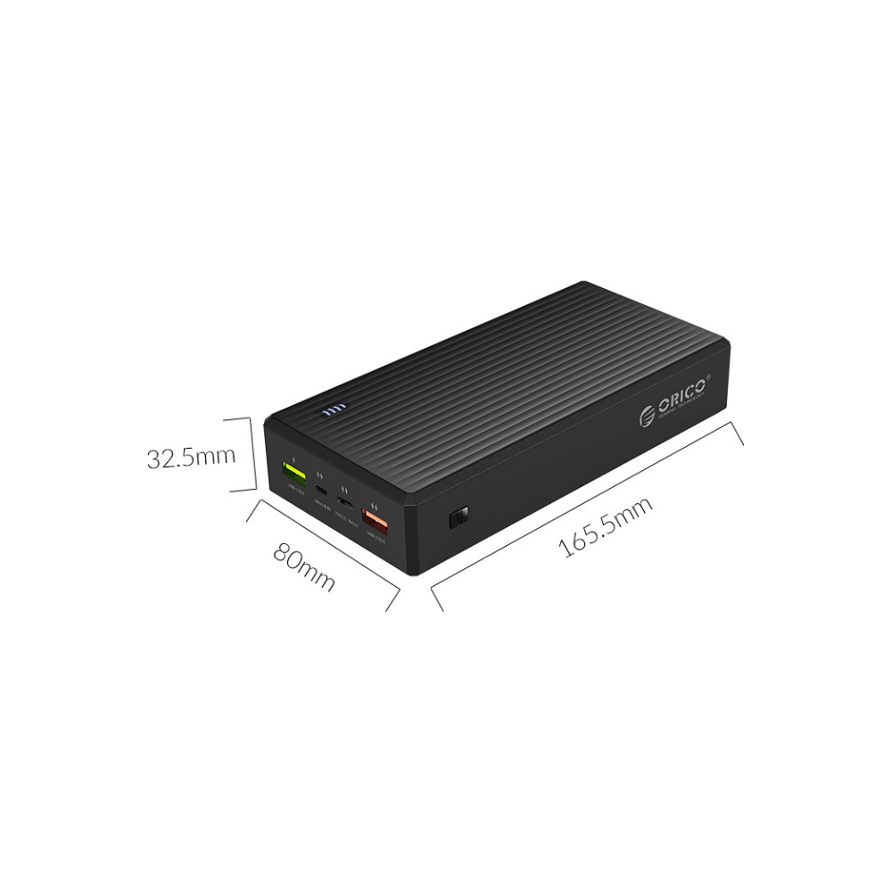 A large main feature product image of Orico AK30 30000mAh Lithium Power Bank
