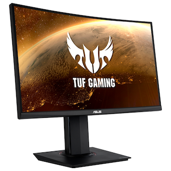 "Product image of Asus TUF VG24VQ 23.6"" Full HD Curved 144Hz 1MS FreeSync Gaming Monitor - Click for product page of Asus TUF VG24VQ 23.6"" Full HD Curved 144Hz 1MS FreeSync Gaming Monitor"