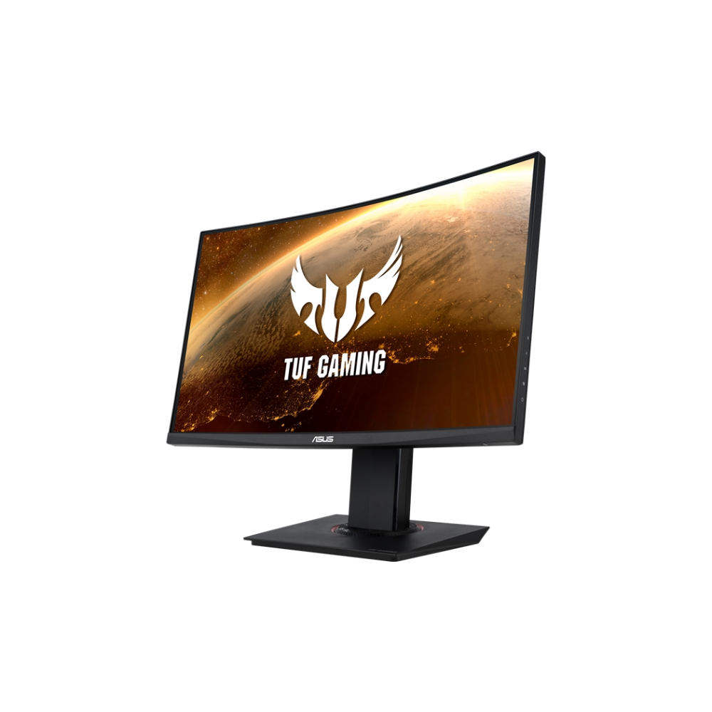 "A large main feature product image of ASUS TUF VG24VQ 23.6"" Curved FHD FreeSync Premium 144Hz 1MS VA LED Gaming Monitor"