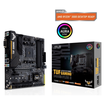 Product image of Asus TUF GAMING B450M-PLUS II AM4 mATX Desktop Motherboard - Click for product page of Asus TUF GAMING B450M-PLUS II AM4 mATX Desktop Motherboard