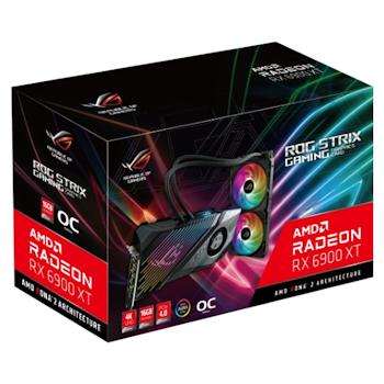 Product image of ASUS Radeon RX 6900 XT ROG Strix Liquid Cooled OC 16GB GDDR6 - Click for product page of ASUS Radeon RX 6900 XT ROG Strix Liquid Cooled OC 16GB GDDR6