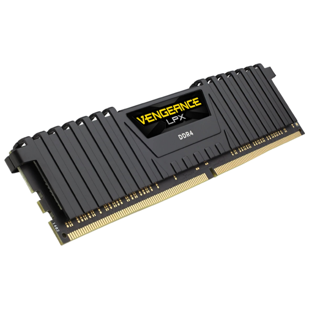 A large main feature product image of Corsair 32GB (2x16GB) DDR4 Vengeance LPX C16 3200Mhz