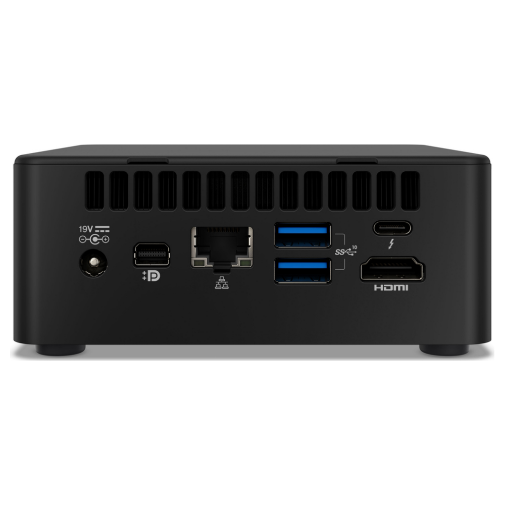 A large main feature product image of Intel 11th Gen i7 NUC DIY Starter Bundle