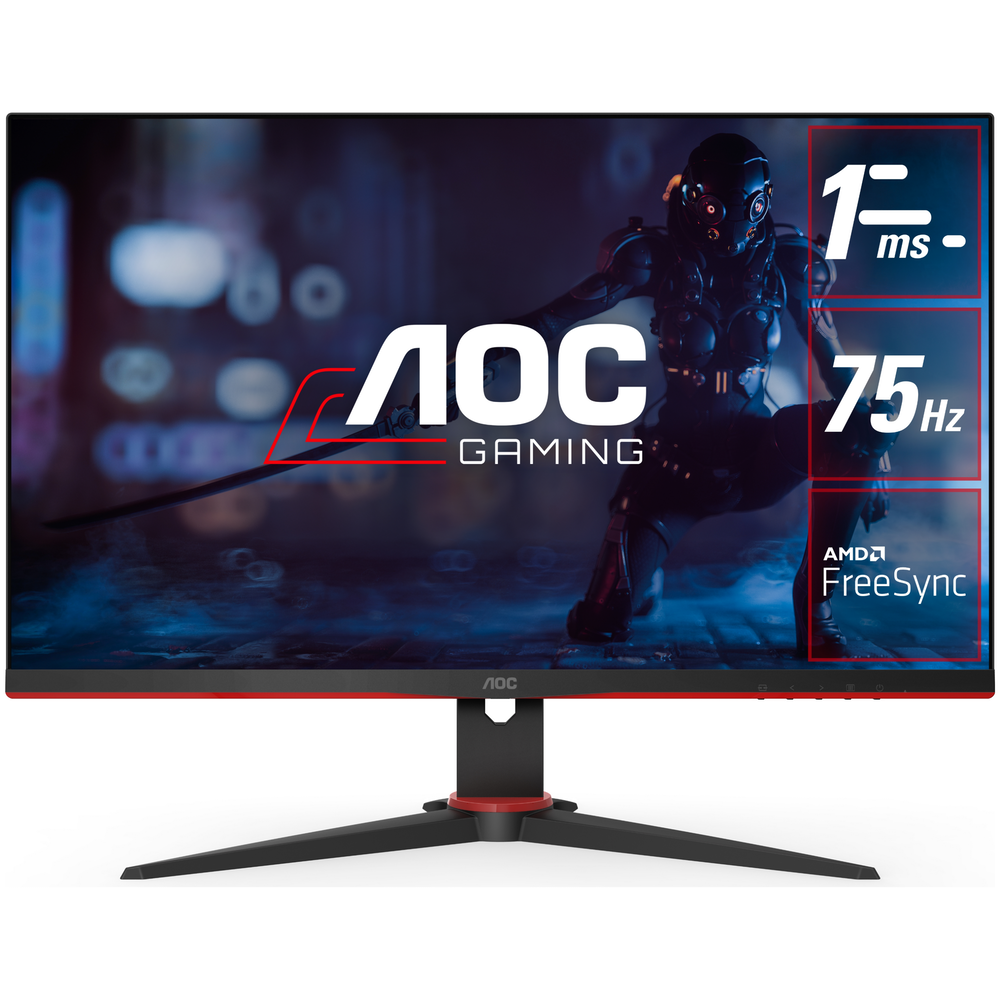 """A large main feature product image of AOC 24G2E5 23.8"""" Full HD Adaptive Sync 75Hz 1MS IPS LED Gaming Monitor"""
