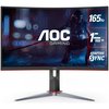 """A product image of AOC C24G2 23.6"""" Full HD FreeSync Curved 165Hz 1MS VA LED Gaming Monitor"""
