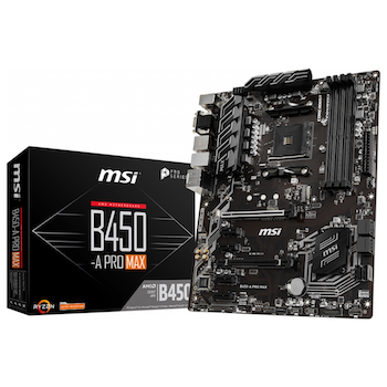 Product image of MSI B450-A Pro MAX AM4 ATX Desktop Motherboard - Click for product page of MSI B450-A Pro MAX AM4 ATX Desktop Motherboard