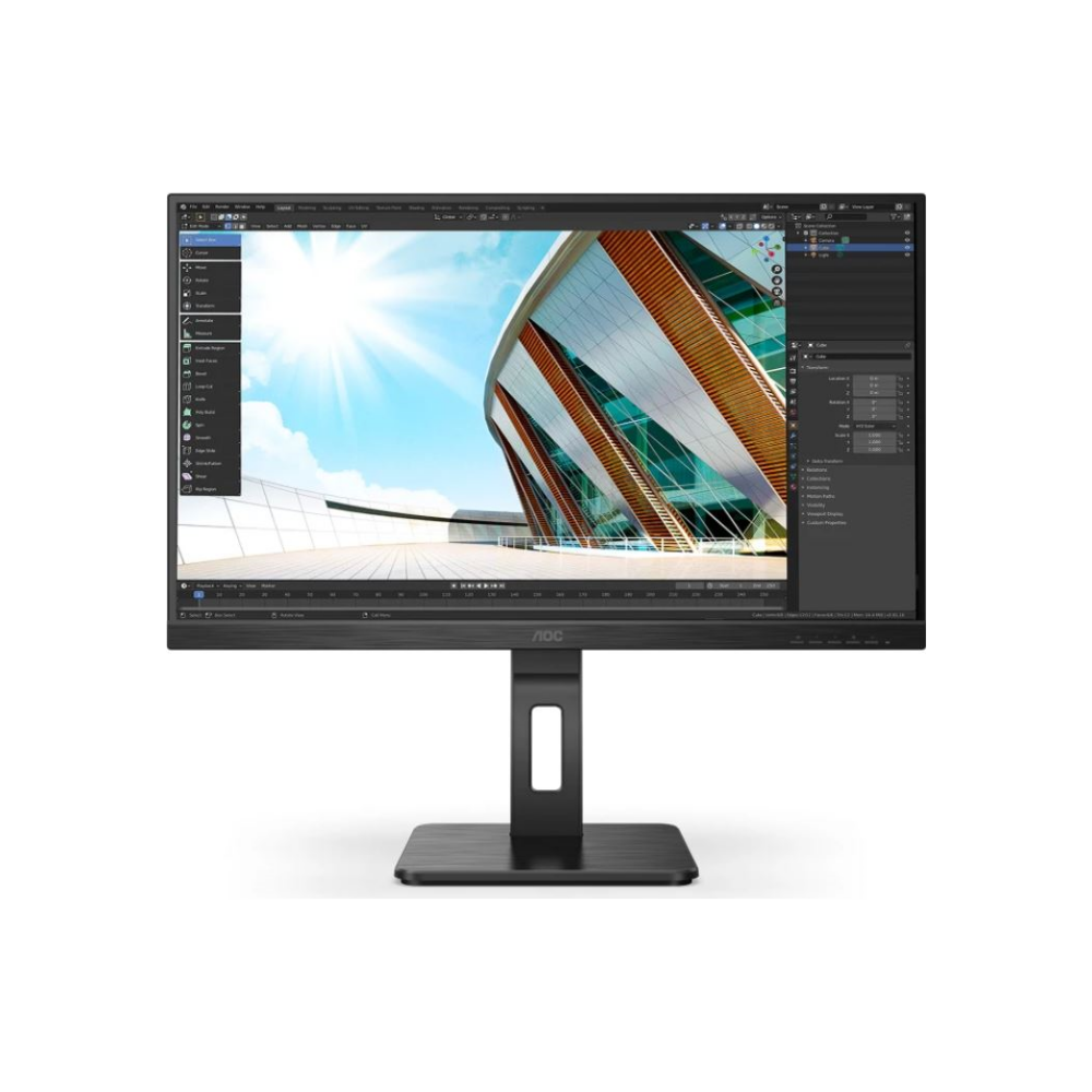 "A large main feature product image of AOC 27P2Q 27"" Full HD Adaptive Sync 75Hz 4MS IPS LED Gaming Monitor"