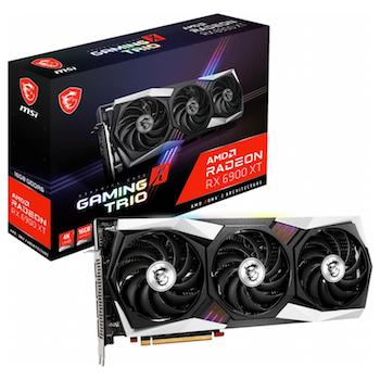Product image of MSI Radeon RX 6900 XT Gaming X Trio 16GB GDDR6 - Click for product page of MSI Radeon RX 6900 XT Gaming X Trio 16GB GDDR6