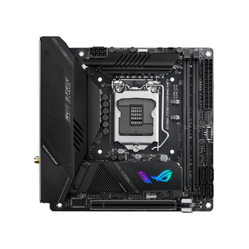 Product image of ASUS ROG STRIX Z590-I GAMING WIFI LGA1200 mITX Desktop Motherboard - Click for product page of ASUS ROG STRIX Z590-I GAMING WIFI LGA1200 mITX Desktop Motherboard