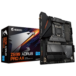 Product image of Gigabyte Z590 Aorus Pro AX LGA1200 ATX Desktop Motherboard - Click for product page of Gigabyte Z590 Aorus Pro AX LGA1200 ATX Desktop Motherboard