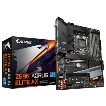 Product image of Gigabyte Z590 Aorus Elite AX LGA1200 ATX Desktop Motherboard - Click for product page of Gigabyte Z590 Aorus Elite AX LGA1200 ATX Desktop Motherboard