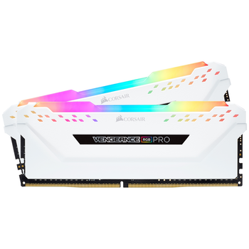 Product image of EX-DEMO Corsair 16GB Kit (2x8GB) DDR4 Vengeance RGB PRO White 3600MHz C18 - Click for product page of EX-DEMO Corsair 16GB Kit (2x8GB) DDR4 Vengeance RGB PRO White 3600MHz C18