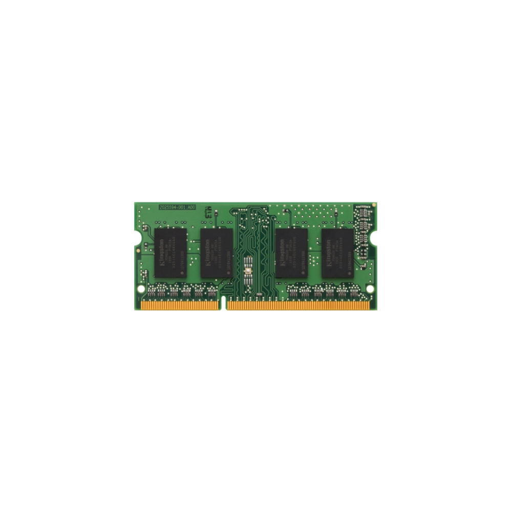 A large main feature product image of Kingston 8GB DDR3L SO-DIMM C11 1600MHz