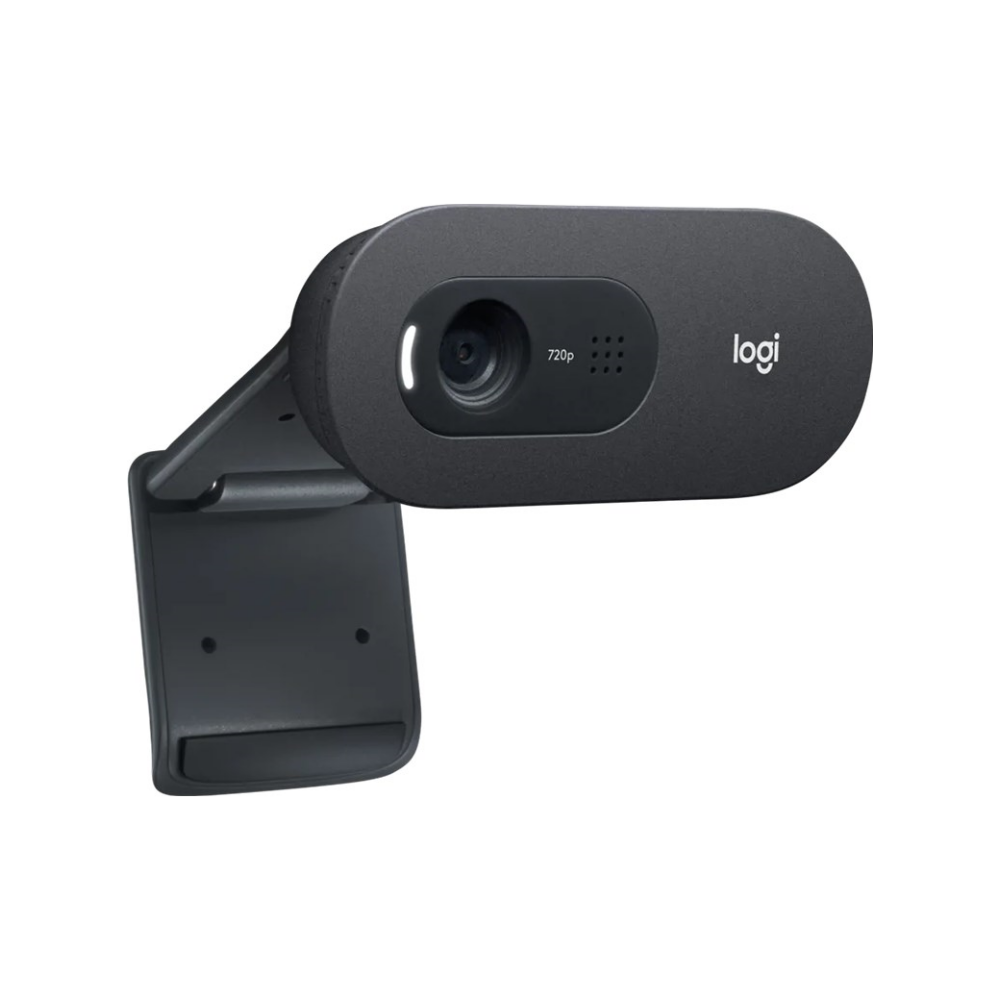 A large main feature product image of Logitech C505e HD Webcam