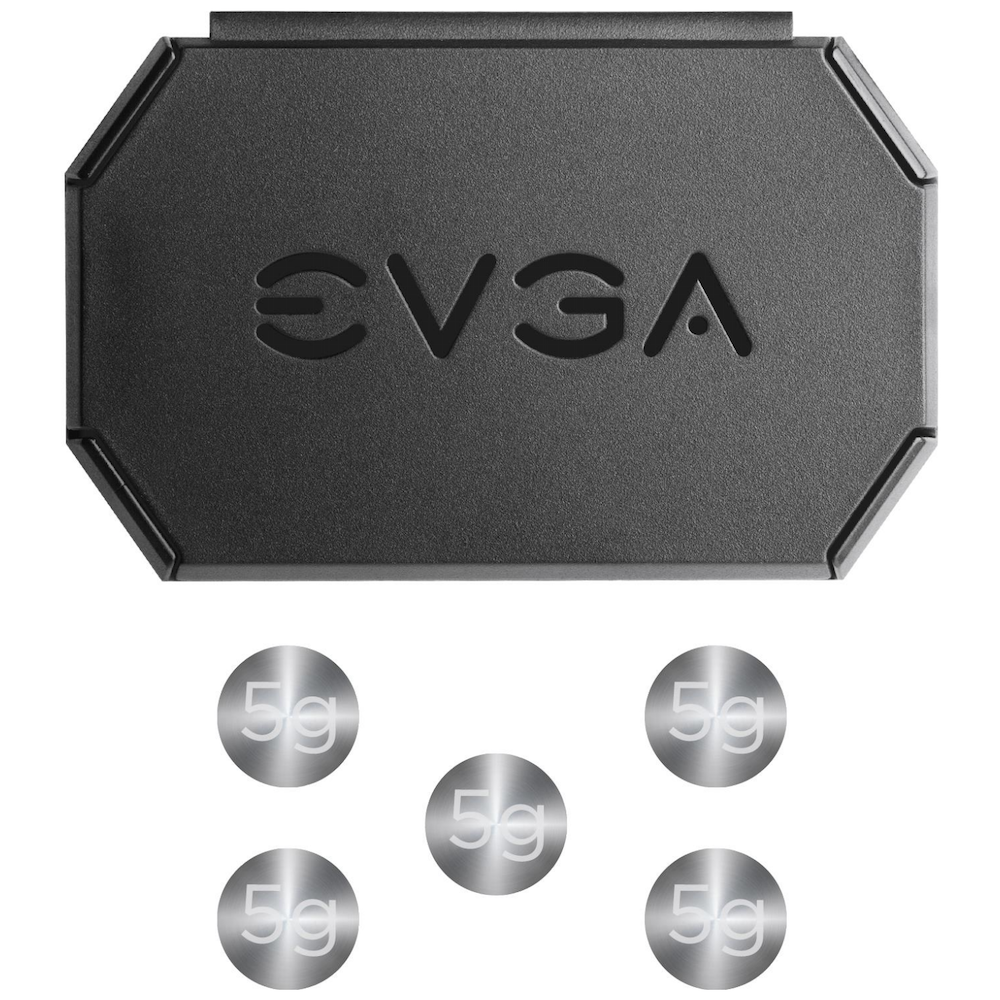 A large main feature product image of eVGA X17 Wired Gaming Mouse Black